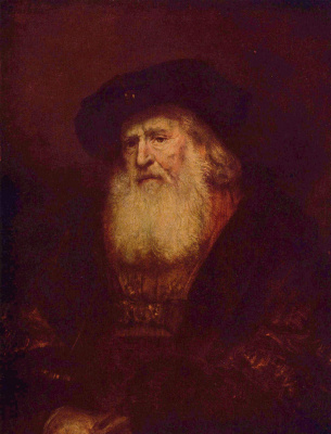Rembrandt Harmenszoon van Rijn. Portrait of a bearded man in a beret