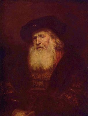 Rembrandt Harmenszoon van Rijn. Portrait of a bearded man in a beret