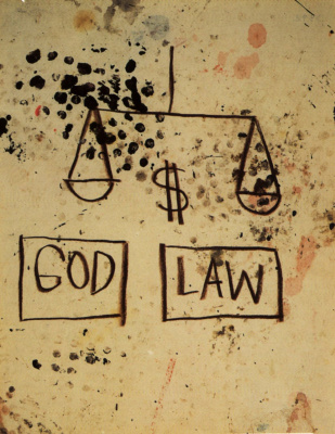 Jean-Michel Basquiat. God, the law