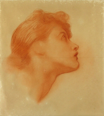 "George Frederick Watts. Sketch of the figure of Love for ""Love and Life"""