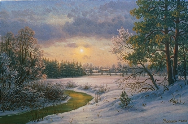 Alexander Vasilyevich Zoryukov. Winter evening