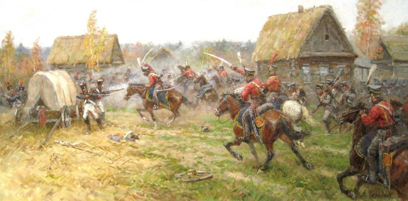 Aleksandr Chagadaev. Fight for the village