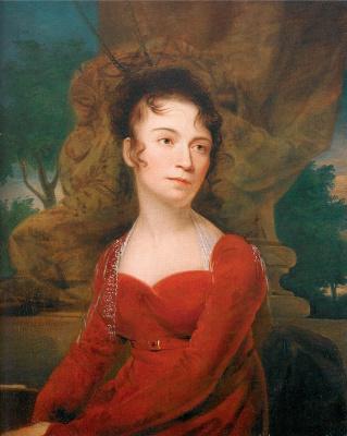 Рембрандт Пил. Девушка в красном