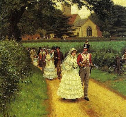 Edmund Blair Layton. Wedding procession