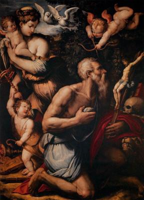 Giorgio Vasari. 圣杰罗姆的诱惑