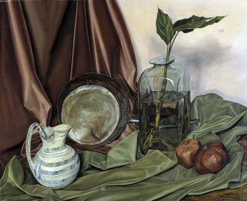 Luigi Lucioni. The contrasting texture