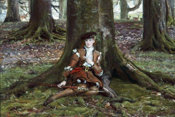 John Everett Millais. Rosalind in the forest
