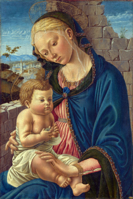 Флорентийский Итальянский. Дева с младенцем