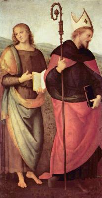 Пьетро Перуджино. Алтарь св. Августина. Иоанн Креститель и св. Августин