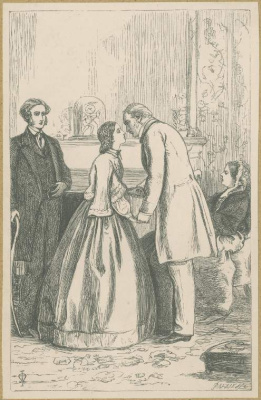 John Everett Millais. Welcome home. Illustration for the works of Anthony Trollope
