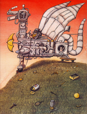 Питер Сис. Робот-дракон
