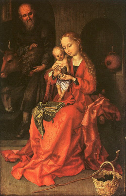 Martin Schongauer. Mary with child