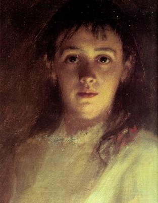 Portrait of a woman. Fragment
