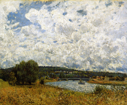 Alfred Sisley. The Seine at SURESNES