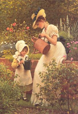 George Dunlop Leslie. Young gardener