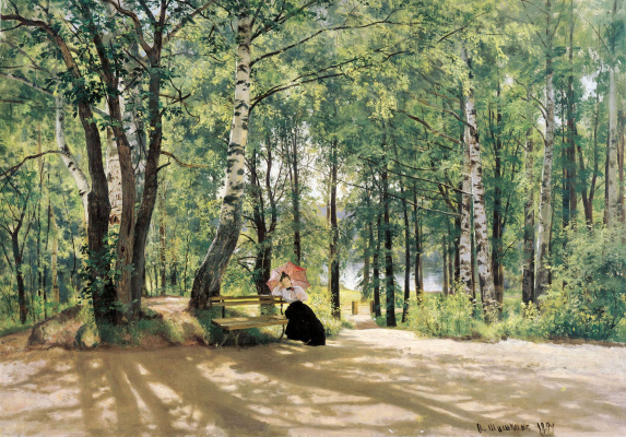 Ivan Ivanovich Shishkin. Near the cottages