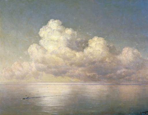 Ivan Aivazovsky. Clouds over the sea. Calm