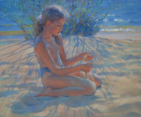 Ljubov Belych. On the warm sand