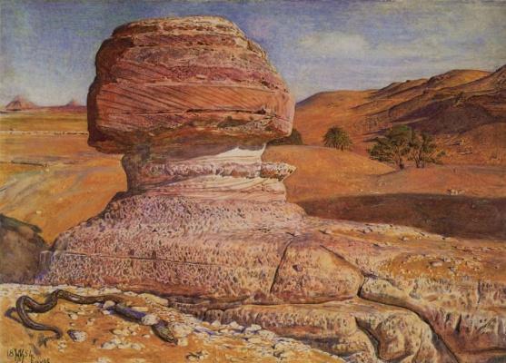 Уильям Холман Хант. Сфинкс в окрестностях Гизы, Египет
