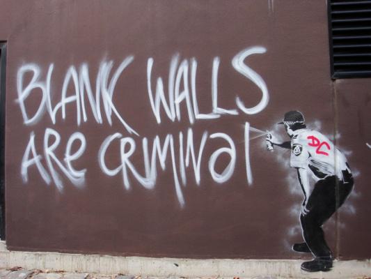 Banksy. Empty walls are a crime