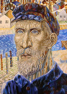 Valery Vasilyevich Litvinov. Collective farmer (copy from Filonov)
