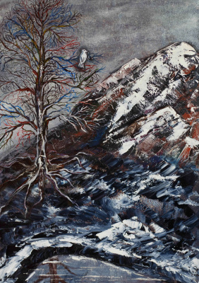 "Alla Struchayeva. The painting ""The White Crow"""