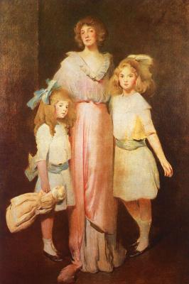 Джон Уайт Александер. Миссис Дэниэлс с двумя детьми