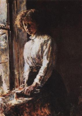 Valentin Aleksandrovich Serov. Window. Portrait Of O. F. Trubnikova