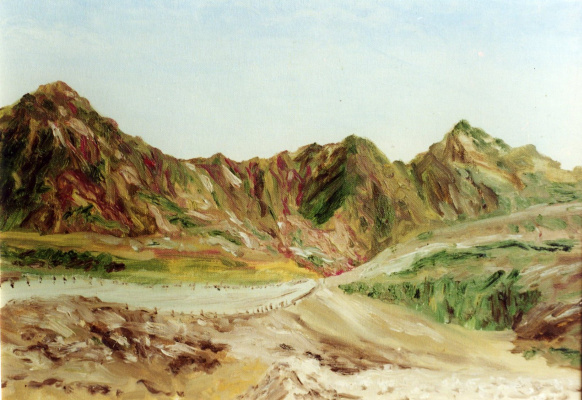 Rita Arkadievna Beckman. The road to Eilat, the Red sea