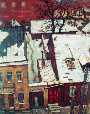 Mstislav Valerianovich Dobuzhinsky. The house on the street Daalarna in Kaunas. 1931