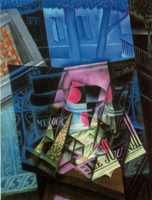 Juan Gris. Still life before an open window