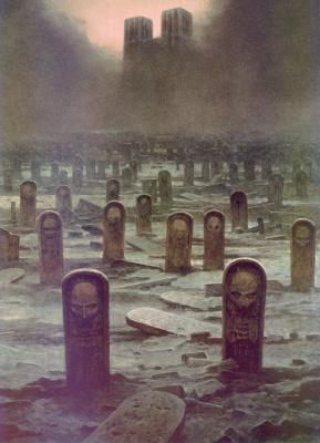 Здзислав Бексиньский. Кладбище