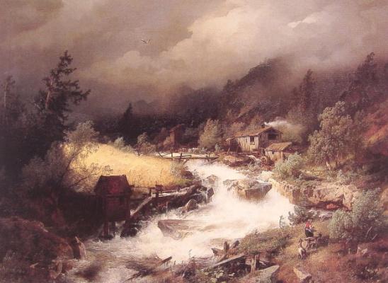 Герман Оттомар Герцог. Старая водяная мельница