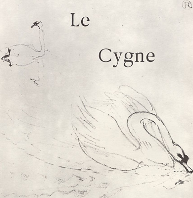 """Henri de Toulouse-Lautrec. The illustration to the writing of Jules Renard's """"Natural history."""" Swan"""