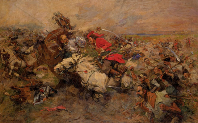 Николай Семенович Самокиш. Бой Максима Кривоноса с князем Иеремией Вишневецким