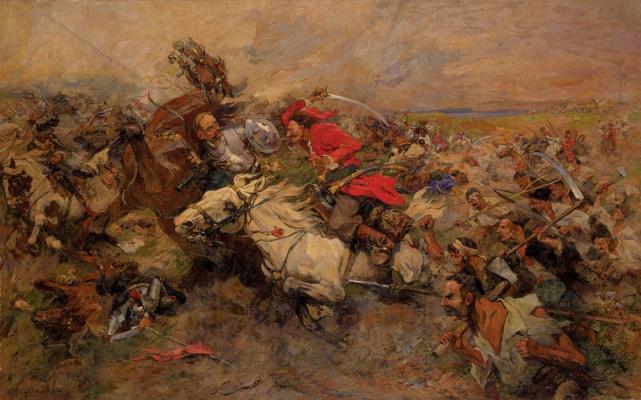 Nikolay Semenovich Samokish. The battle of Maxim Krivonos with Jeremiah Prince Vyshnevetsky