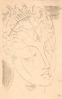 Ольга Константиновна Дейнеко. Голова античной богини. 1920-е