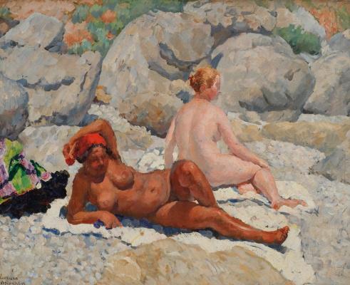 Ilya Ivanovich Mashkov. Gurzuf. Women's beach