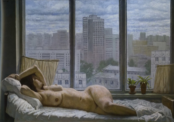Гелий Михайлович Коржев. Туманное утро (Серое утро)