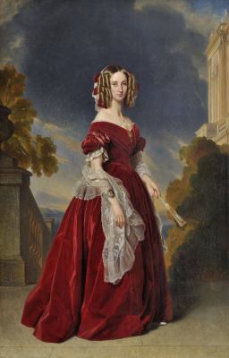 Franz Xaver Winterhalter. Louise of Orleans, Queen of Belgium (the version for the Palace of Versailles)