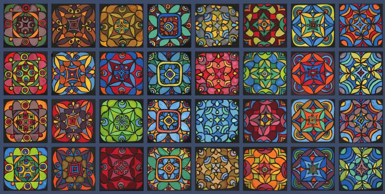 Юрий Николаевич Сафонов (Yury Safonov). Декоративность цвета — (серия «Комбинаторика»)