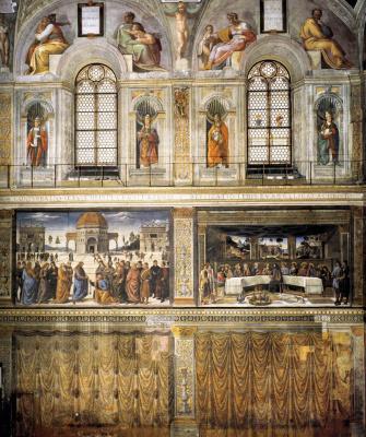 Michelangelo Buonarroti. The wall of the Sistine chapel