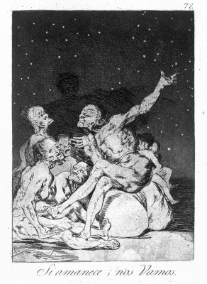 """Francisco Goya. """"When the day breaks, we leave"""" (Series """"Caprichos"""", page 71)"""