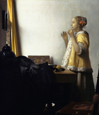 Jan Vermeer. Girl with a pearl necklace