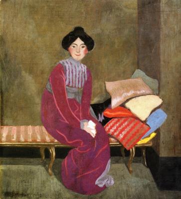 Felix Vallotton. Portrait Of Gabrielle