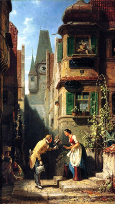 Karl Spitzweg. The eternal bridegroom