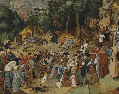 Peter Brueghel The Younger. The way to Calvary. Fragment
