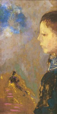 Odilon Redon. Portrait of Ari Redon with a sailor's collar