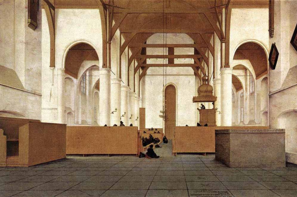 Питер Джансс Сенредам. Церковь внутри