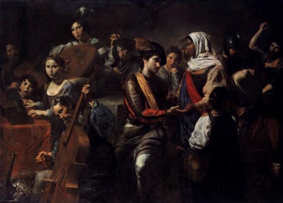 Valentin de Boulogne. Company with fortune-teller